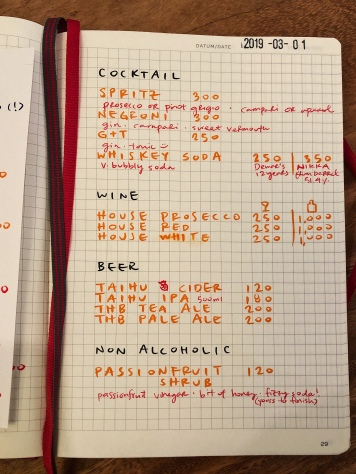 寫在Moleskine筆記本裡,真的很可愛!